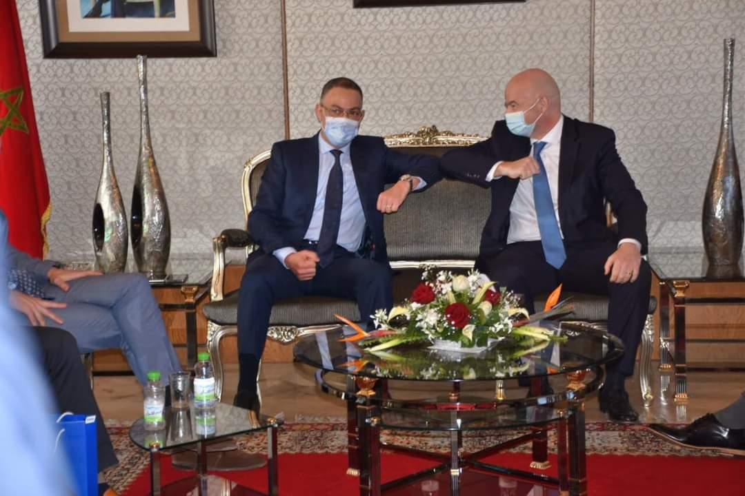 فوزي لقجع يستقبل رئيس الفيفا بالمغرب من أجل زيارة عمل