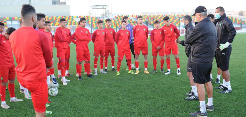 المنتخب المغربي لأقل من 20 سنة يواصل إستعداده لمباراته ضد المنتخب التونسي