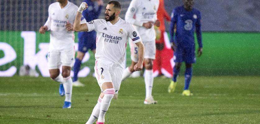 بتزيمة ينقد ريال مدريد من الهزيمة أمام تشيلسي في ليلة دوري أبطال أوروابا