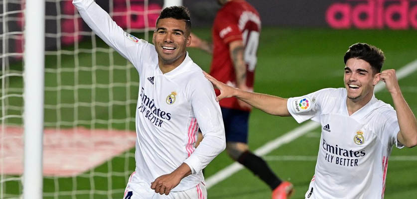 ريال مدريد يحقق الفوز على أوساسونا ويضيق الخناق على أتلتيكو مدريد