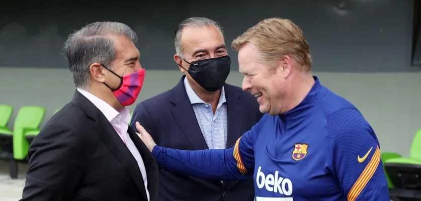 لابورتا يكشف السبب وراء استمرار كومان مع برشلونة